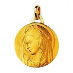 M�daille Vierge Marie Or Jaune.