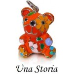 Pendentif UNA STORIA _ Ourson assis orange