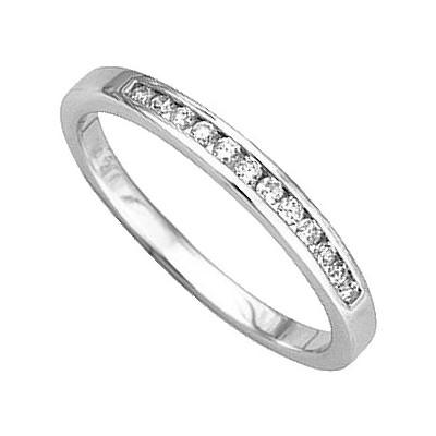 alliance femme or blanc et diamant #4
