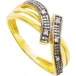 Bague Or jaune Diamants.