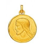 M�daille Christ Or Jaune.