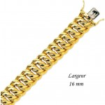 Bracelet Or Jaune Maille Am�ricaine