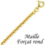 Cha�ne Or FR35 maille for�at rond 2.60gr.