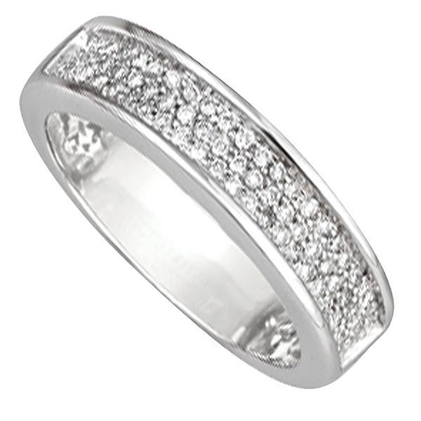 alliance femme or blanc avec diamant #5