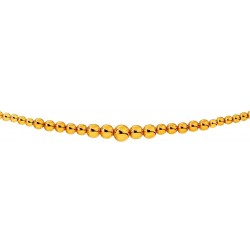 Collier Or Jaune Boules Chute 6 mm.